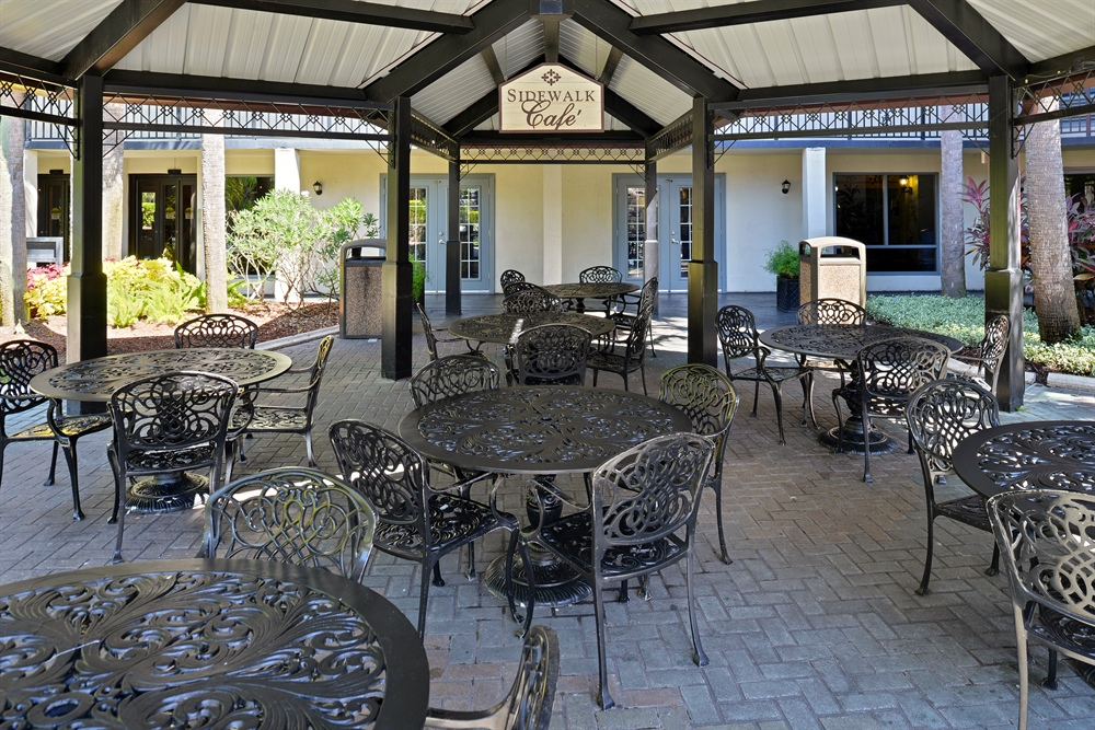 Sidewalk Cafe at our Family resort in Orlando