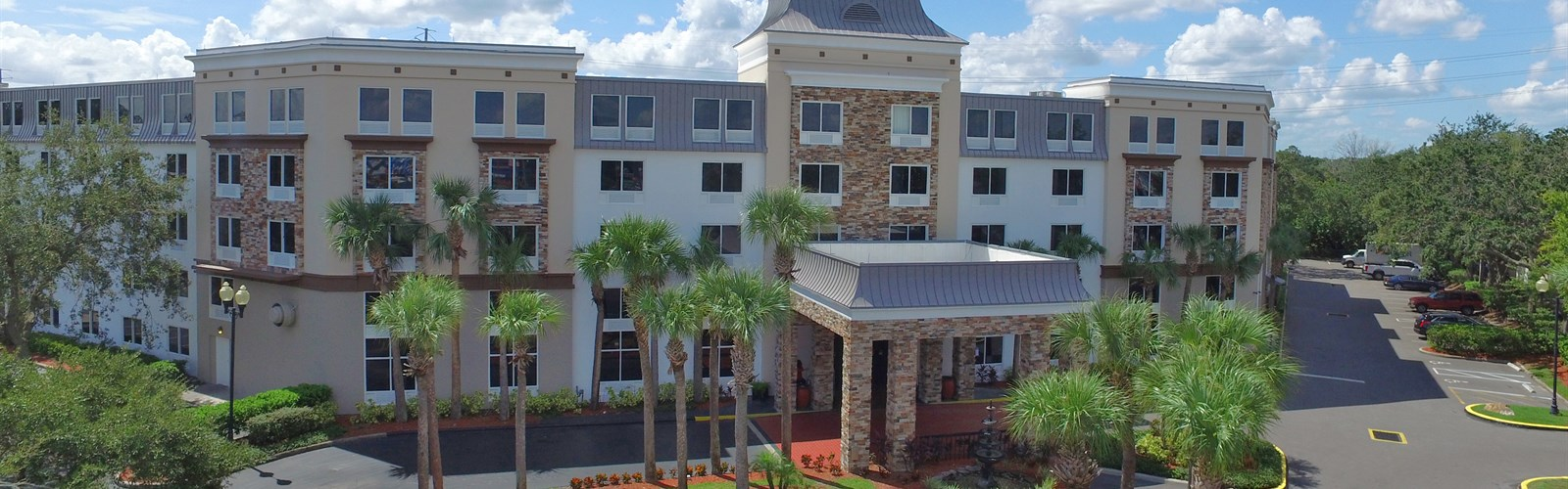 Outside our Kissimmee, Florida Hotel
