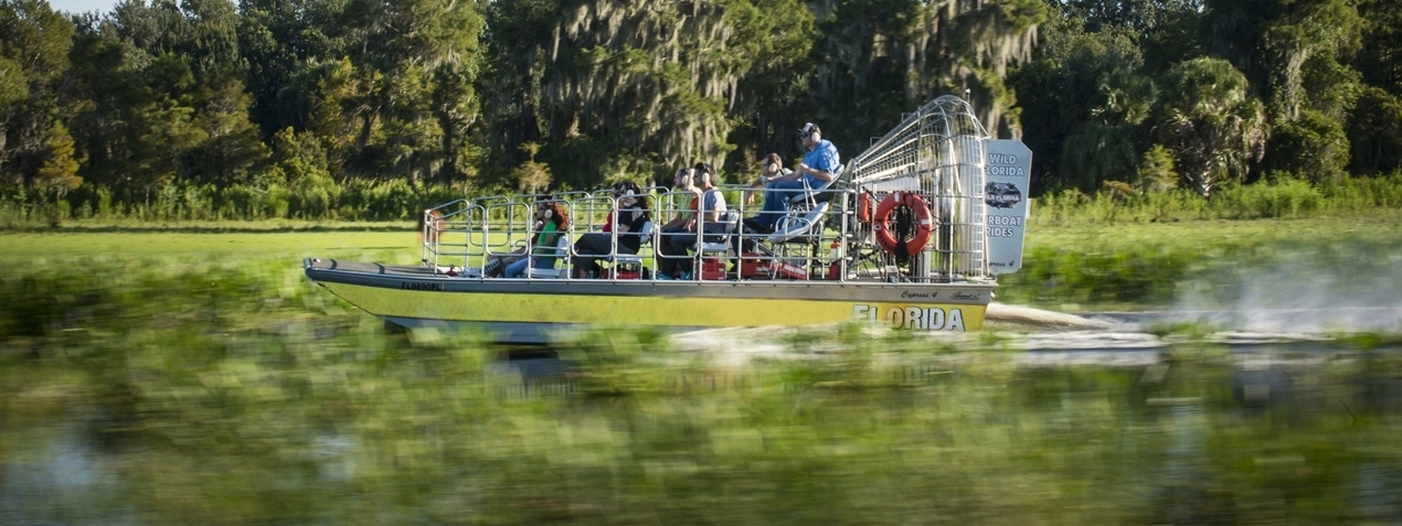 Airboats rides nearby