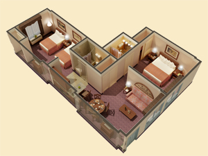 Two Bedroom Suites Floorplan